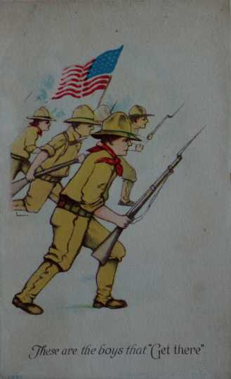 Flag WWI soldier